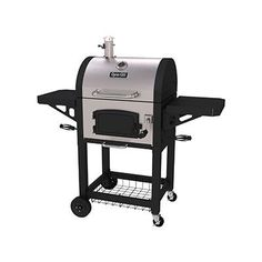 Dyna-Glo Charcoal Grill with Grates and Charcoal Door Finish: Stainless Steel