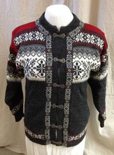 New Norwegian Wool Sweater Men or women Norskwear, M, Red, Gray,