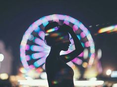 Imagem de girl and lights
