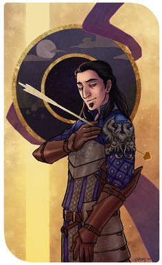 Because Dragon Age - phoqingart: ◇ Nathaniel Howe ◇ Basic card |...- Shot through the heart Nathaniel... for Cousland, every time.