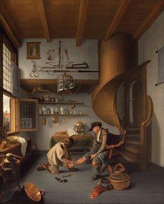 Barber-Surgeon, Tending a Peasant's Foot, c. 1649-50