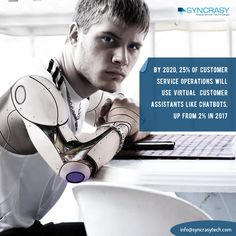 By 2020, 25% of #customerservice operations will use #virtualassistants like #chatbots, up from 2% in 2017  What are your views Shep Hyken Blake Morgan Annette Franz, CCXP Jessica Wise Andrew Ng Martin Ford?