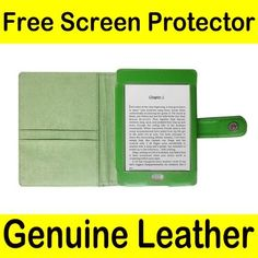 """Mochie (tm) Genuine Leather Pouch Case Cover Jacket for Amazon Kindle Touch Green by JMGlobal. $10.99. Brand New  For Amazon Kindle Touch e-reader released on November 2011 (Kindle Touch size is  6.8"""" x 4.7"""" x 0.40"""". This will not work with other e-readers (Kindle 4, Kindle Keyboard, etc)) Genuine Leather Case + Free Screen Protector (for limited time only) Give the Mochie brand a try to protect your device with a fashionable look!!  Being affordable and reliable, this ..."""