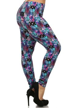 Kisses Soft Print Leggings TC Plus