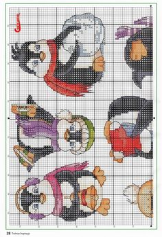 Penguin winter cross stitch 1