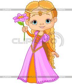 Красивая маленькая принцесса   Векторный клипарт   ID 3267689