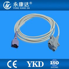 34.00$  Buy here - http://aliwrh.shopchina.info/go.php?t=32392102207 - Compatible Dolphin adult soft tip  SpO2 Sensor 9ft, 8pin  #buyininternet