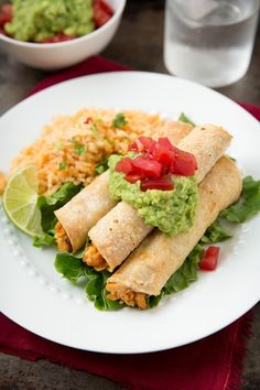 Baked Creamy Chicken Taquitos- skipped frying tortillas, omitted paprika and chili powder, added 2 tsp recaito, brushed with olive oil before baking to help get crispy. yum!