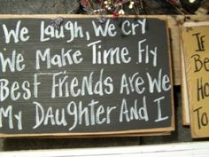 I Smile Because You're My Daughter, I Laugh Because There's Nothing You Can Do About It - wood sign-funny mother daughter gift, silly saying, funny wood sign, hand crafted, made in the usa wood sign, humorous plaque