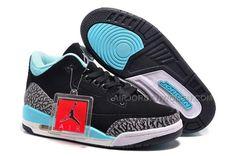 "super popular 7a65c d65d2 Air Jordan 3 GS ""Tiffany"" Black Bleached Turquoise-Cement Grey-Mint Green,  Price   89.00 - Air Jordan Women Shoes - Women s Air Jordan Shoes"