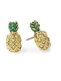Bring some Hawai'i to Minneapolis with these Pineapple Studs.     Juicy Couture Pineapple Stud Earring | Piperlime