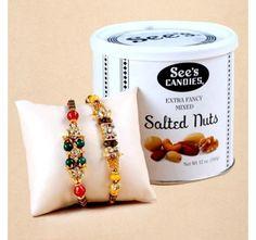 Nuts and Rakhis Gift hamper