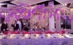 The long table floral design