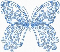 Vintage Butterfly free machine embroidery design. Machine embroidery design. www.embroideres.com