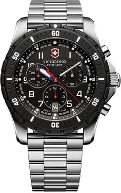 Victorinox Swiss Army Men's Chronograph Maverick Sport Stainless Steel Bracelet Watch 43mm 241679