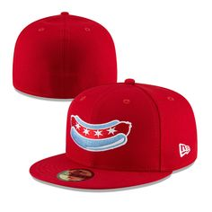 buy online 4af50 29d04 Chicago Dogs New Era 59FIFTY Alternate Core Fitted Field Cap - Red - Chicago  Dogs -