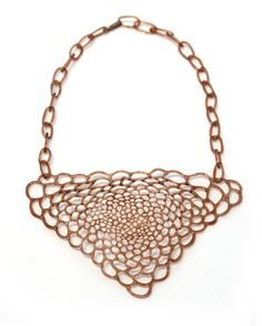 Jane D'Arensbourg borosilicate glass necklace. 2010 Gallery Lulo.
