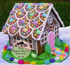 """The Great Gingerbread House Question - - """"That's beautiful! Can we eat it?"""" This question echos through every Christmas in my memory. Mom made so many gingerbread houses. After oooohing and aaahhhing, each family would ask the same quest…. Gingerbread House Designs, Gingerbread House Parties, Gingerbread Decorations, Christmas Gingerbread House, Christmas Treats, Christmas Baking, Christmas Time, Christmas Decorations, Gingerbread Houses"""