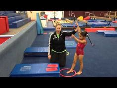 It's a handstand of course! Not only are handstands SUPER fun for kiddos, but if we do a great job teaching them this basic we are setting t… Toddler Gymnastics, Preschool Gymnastics, Gymnastics Floor, Tumbling Gymnastics, Gymnastics Workout, Amazing Gymnastics, Olympic Gymnastics, Rhythmic Gymnastics, Olympic Games