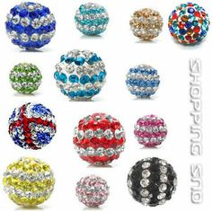 10mm Czech Crystal Clay Disco Balls Beads  Our Disco Ball Are - Premium Quality!