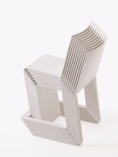 Eco stackable chair by Voxia, used in the LifeEdited apartment
