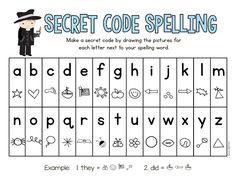 Secret Code Spelling | Mrs. Gilchrist's Class