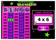 Multiplication Bingo with Interactive Whiteboard Option. This three dollar download features a computer caller that draws question cards and allows you to display called numbers for the whole class as they play along with their own bingo cards. Try it from your PC online at www.teachersclassmate.com