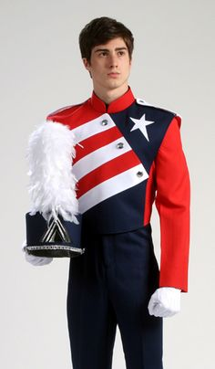 Style Uniform by The Band Hall Marching Band Shows, Marching Band Uniforms, Drum Major, Best Model, School Uniform, Ballet, Art Life, Costumes, Towers