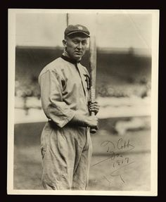 The Original Gangster...When He passed, not 1 person involved with baseball was at his funeral    : Ty Cobb signed photo.