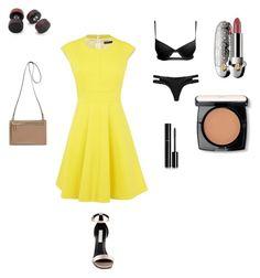 """Yellow for summer"" by explorer-14363030754 on Polyvore featuring Karen Millen, STELLA McCARTNEY, Chanel, Lancôme and Guerlain"