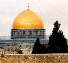 Dome of the Rock, Jerusalem. It is sitting in the area where the court of the Gentiles was located in the old temple.