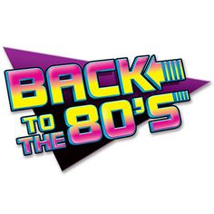 """Retro Back To The 80's sign resembling famous 80's sci-fi movie logo. Sign measures 39.4cm x 61cm (15 1/2"""" x 24"""")."""