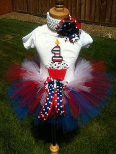 Little Miss Independence 4th of July Birthday by ButterflyBowtique, $40.00