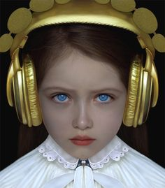 A child model displays another of Adriana Duque's pieces, a pair of gold headpho… A child model displays another of Adriana Duque's pieces, a pair of gold headphones Artistic Photography, Fine Art Photography, Portrait Photography, Art Installation, Child Models, Role Models, Adriana Duque, Music Girl, Arte Pop