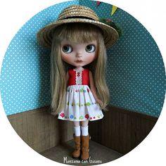 Ya queda muy poco!! Vestidos y sombreros con champiñones que estarán disponibles en el Evento Blythe Madrid 👒🍄 #blythe #blythedoll #eventoblythemadrid #eventoblythemadrid2016 #manzanacongusano #blytheclothes #blythehats #custombylauradiaz #blythestagram