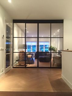 Sliding Door Systems, Sliding Doors, Wall Dividers, Living Room Divider, Internal Doors, Basement, House Design, Flooring, Modern