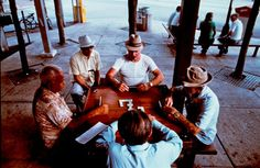 """Playing dominos in """"Little Havana"""" (8th St. in Miami, FL)"""