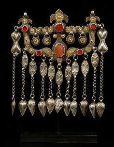 "Afghanistan, Turkmenen, Jomut-Knabeb | Boys amulet ""ok yay"" 