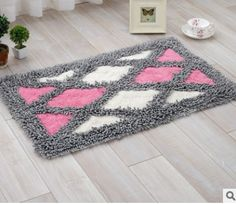 Chenille Cotton Soft Absorbent Quilt Pattern Area Floor Mat