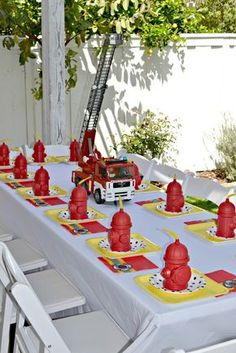Firetrucks and Dalmatians Birthday Party Ideas | Photo 6 of 31