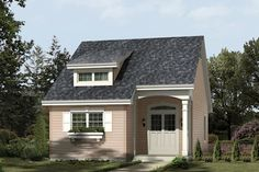 Find your dream bungalow style house plan such as Plan which is a 882 sq ft, 2 bed, 1 bath home with 0 garage stalls from Monster House Plans. Bungalow Style House, Cottage Style House Plans, Bungalow House Plans, Cottage Style Homes, Small House Plans, House Floor Plans, Interior Exterior, Traditional House, Planer