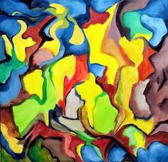 Paradiesvogel, Acrylic on canvas, 1 x 1 m, #art,#kunst,#expressionism,#expressionismus,