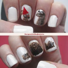 These nails are based on I Want My Hat Back by Jon Klassen, possibly the best book ever. Best Books Of All Time, Good Books, Jon Klassen, Chapter Books, Inspirational Books, Book Activities, Library Decorations, Diy For Kids, Book Art