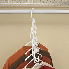 Wonder Hanger Closet Clothes Organizer/Space Saver Storage White Plastic 10 Pack