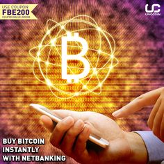 """Buy #bitcoin instantly with NetBanking on Unocoin. Download now and signup with coupon """"FBE200"""" to grab #freebitcoin worth Rs 200."""