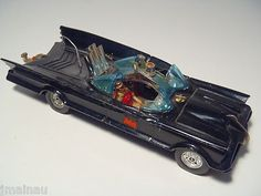 Batman & Robin ridin in style in a Corgi series 3 (chrome wheel hubs). c. 1970.