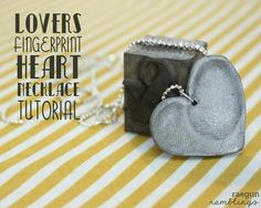 DIY Polymer Clay Double Fingerprint Heart Pendant Necklace. Anything that touches polymer clay (knives, rollers, etc…) can never be used on food again. Be safe and cover your clay in the oven with aluminum foil so the fumes don't get in your oven.