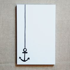 anchor. Then after that I would splatter paint it with all kinds of blues for the sea