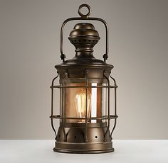 """Vintage Lantern Antique Bronze - how cool would it be to hang this from the roof inside Henry's """"tree house"""" bed."""