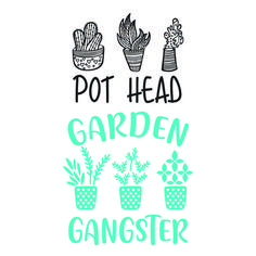 Succulent Plant Pot Head Garden Gangster Cuttable Design Apex Embroidery, Silhouette Cameo Tutorials, Cutting Tables, Flower Quotes, Cricut Creations, Vinyl Crafts, Cricut Vinyl, Plant Design, Cricut Explore
